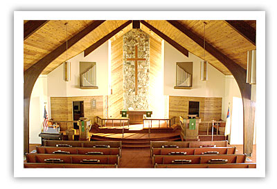 church interior painting